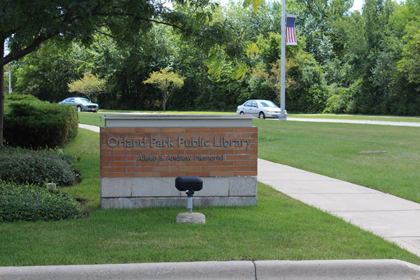 Orland Park Library Sign